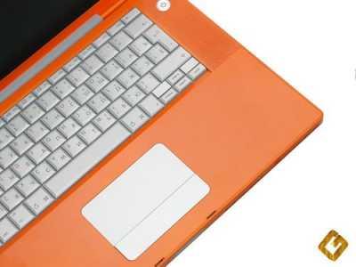 Ноутбук Apple: аэрография - Orange